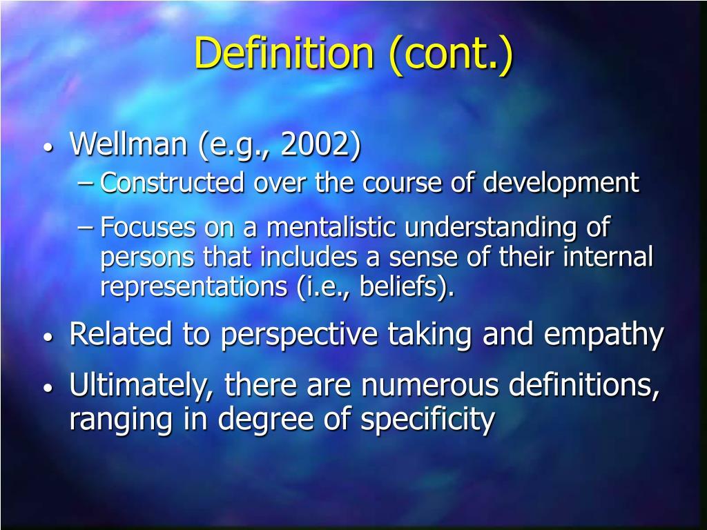 Wellman (e.g., 2002)