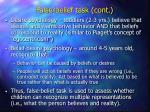 false belief task cont