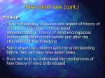 false belief task cont17