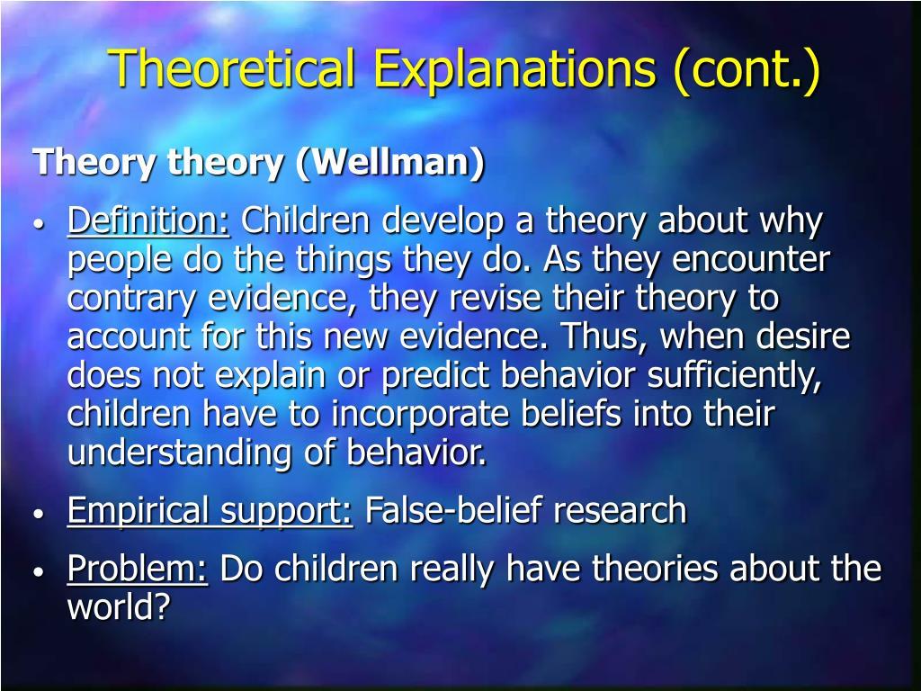 Theory theory (Wellman)