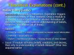 theoretical explanations cont20