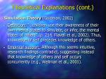 theoretical explanations cont21