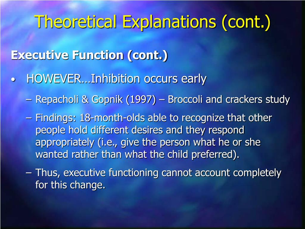 Executive Function (cont.)