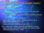 theory of mind and autism cont