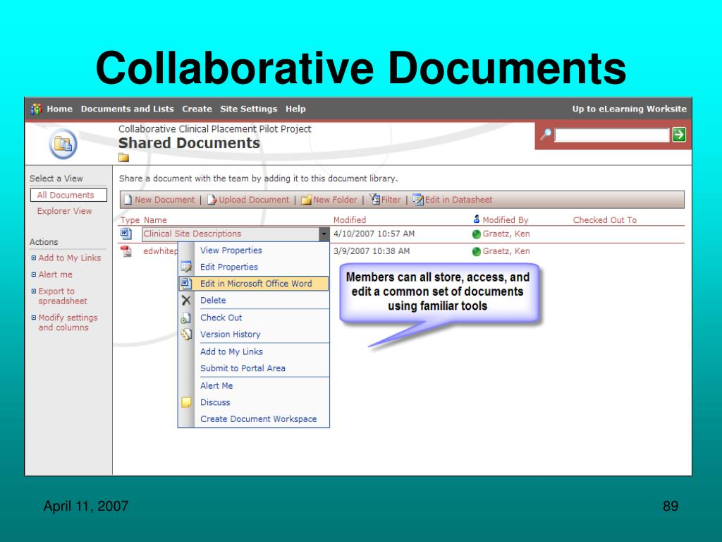 Collaborative Documents