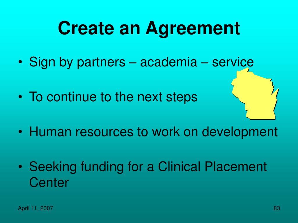 Create an Agreement
