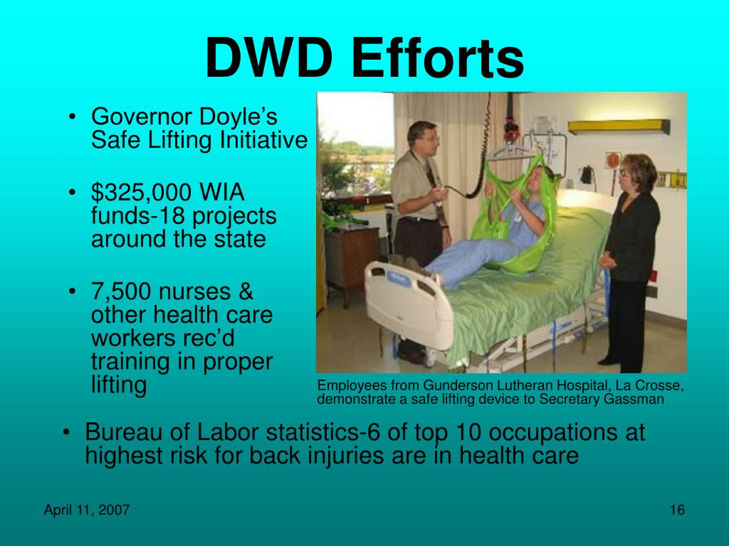 DWD Efforts