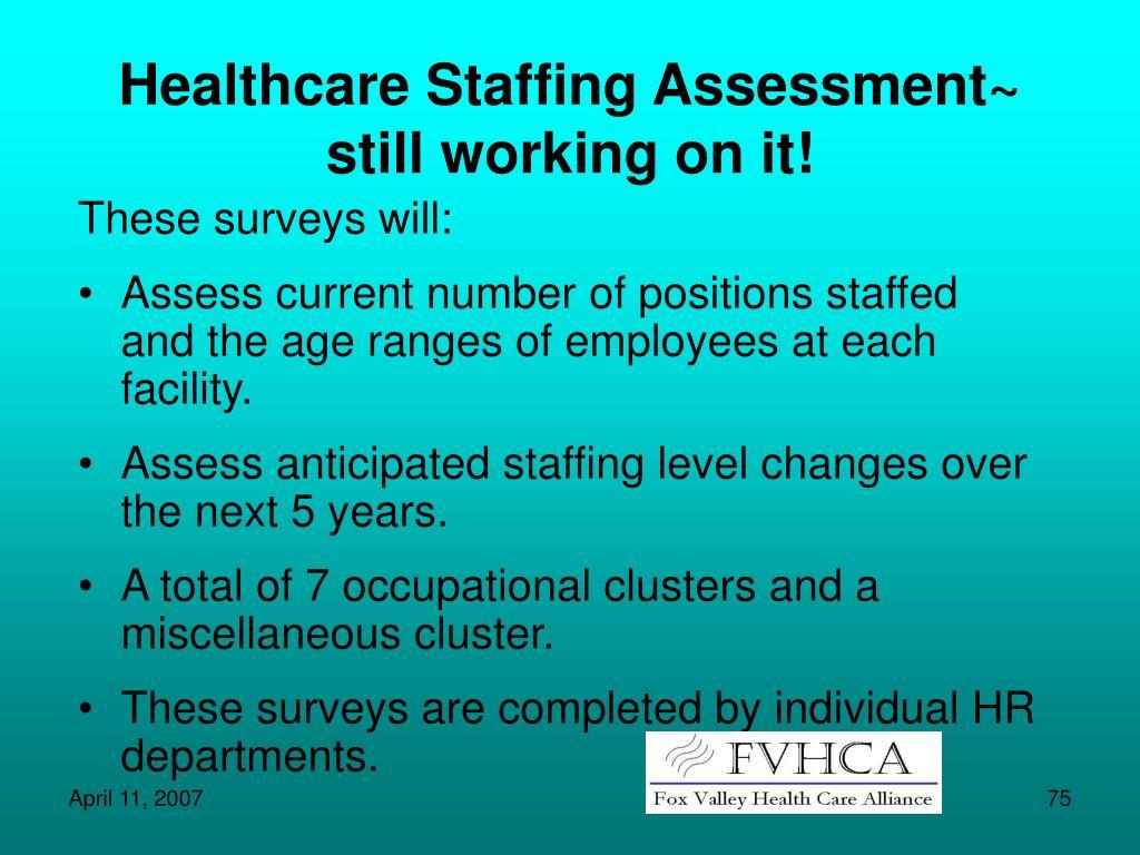 Healthcare Staffing Assessment~