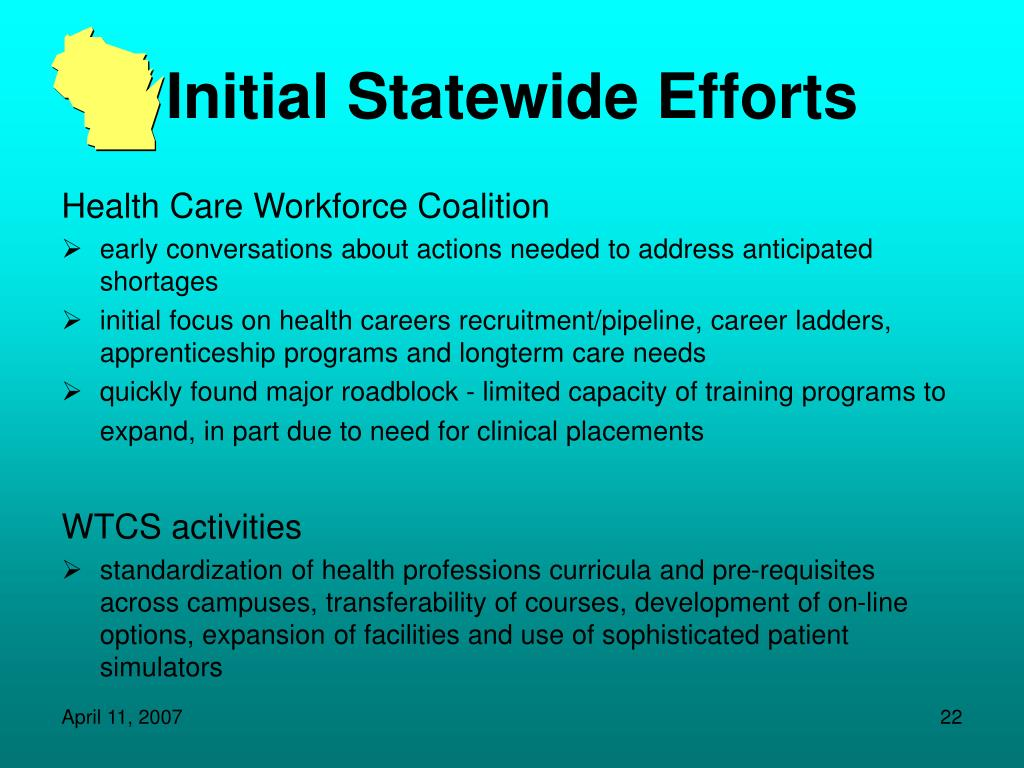 Initial Statewide Efforts