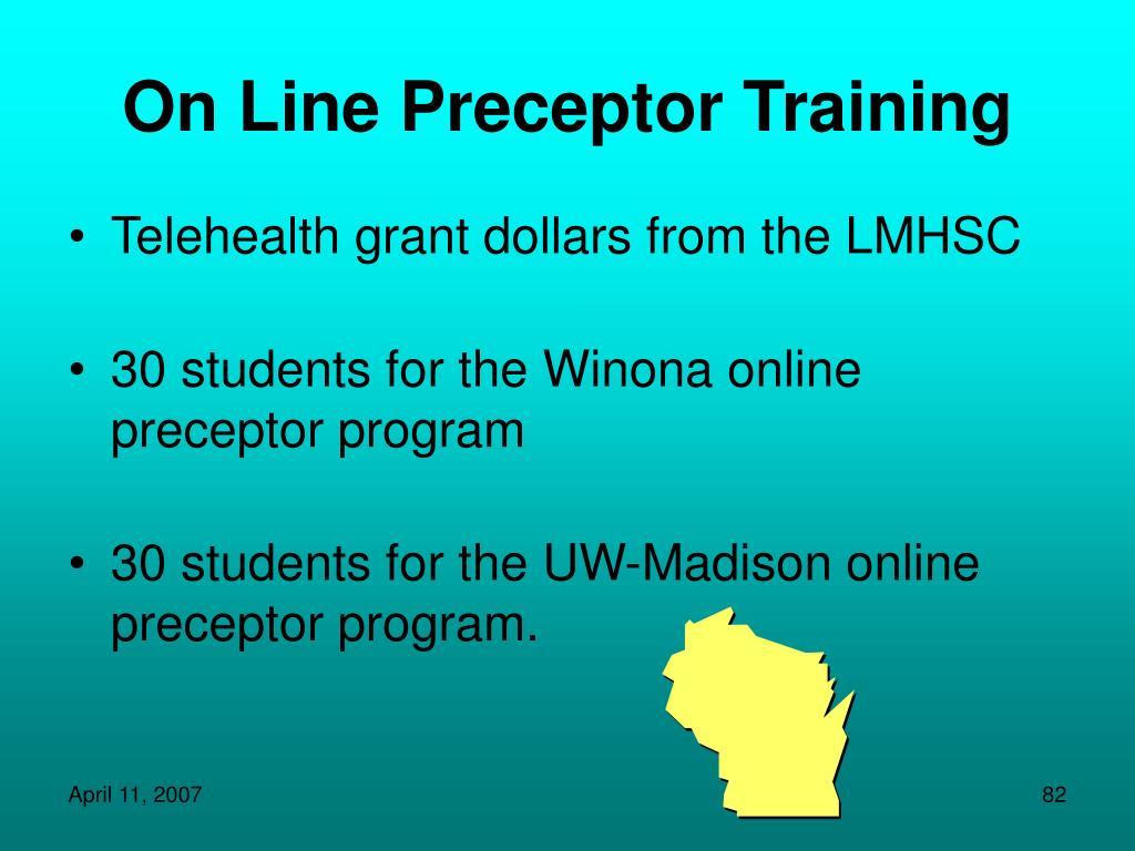 On Line Preceptor Training