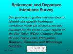 retirement and departure intentions survey