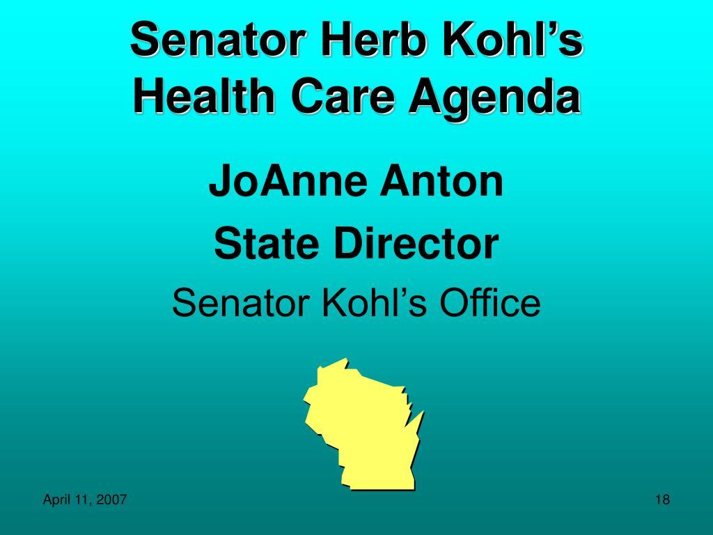 Senator Herb Kohl's