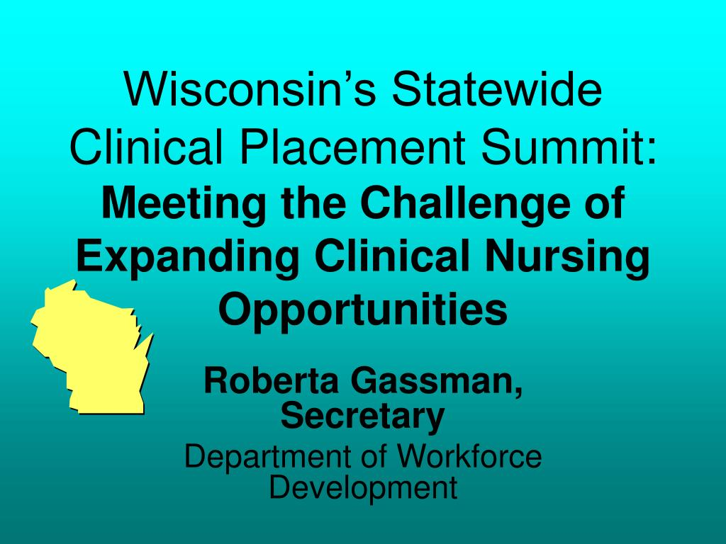 Wisconsin's Statewide Clinical Placement Summit: