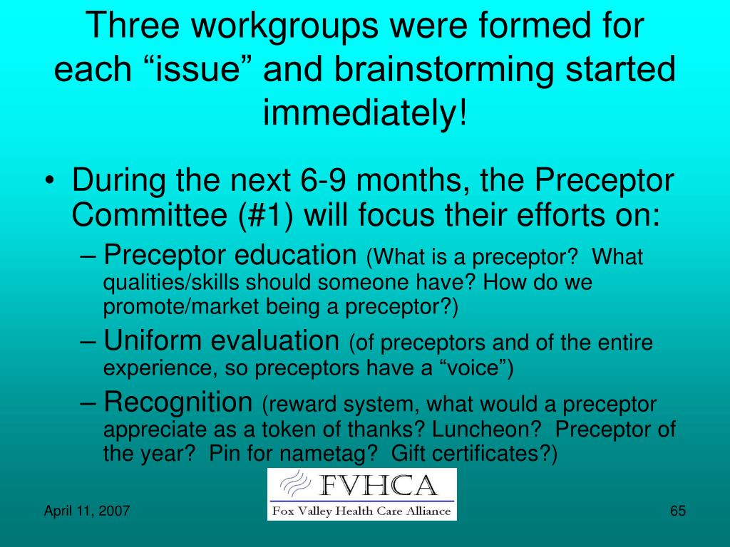 """Three workgroups were formed for each """"issue"""" and brainstorming started immediately!"""