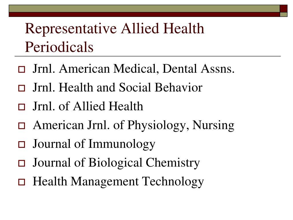 Representative Allied Health