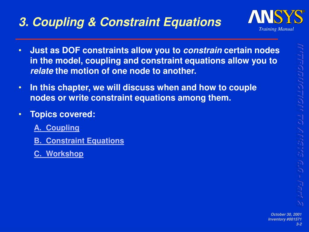 3. Coupling & Constraint Equations