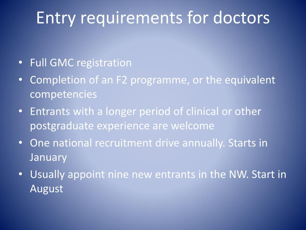 Entry requirements for doctors