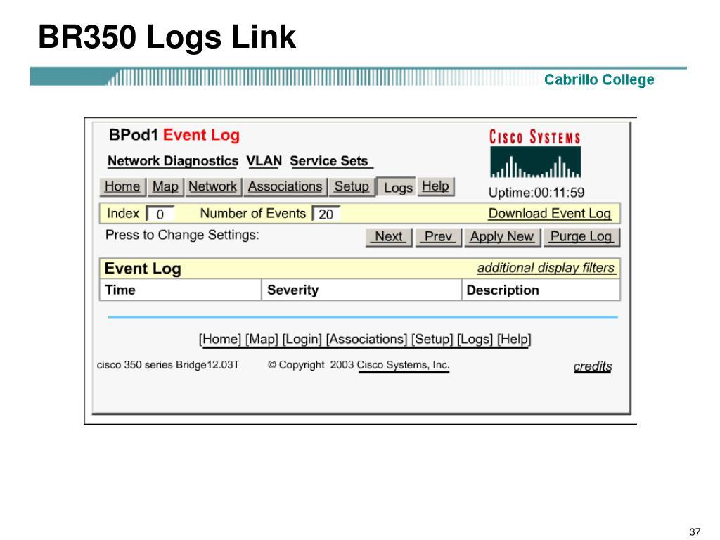 BR350 Logs Link