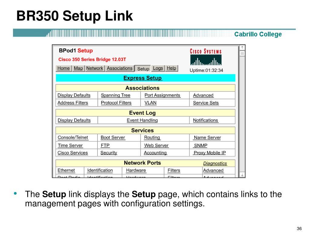BR350 Setup Link