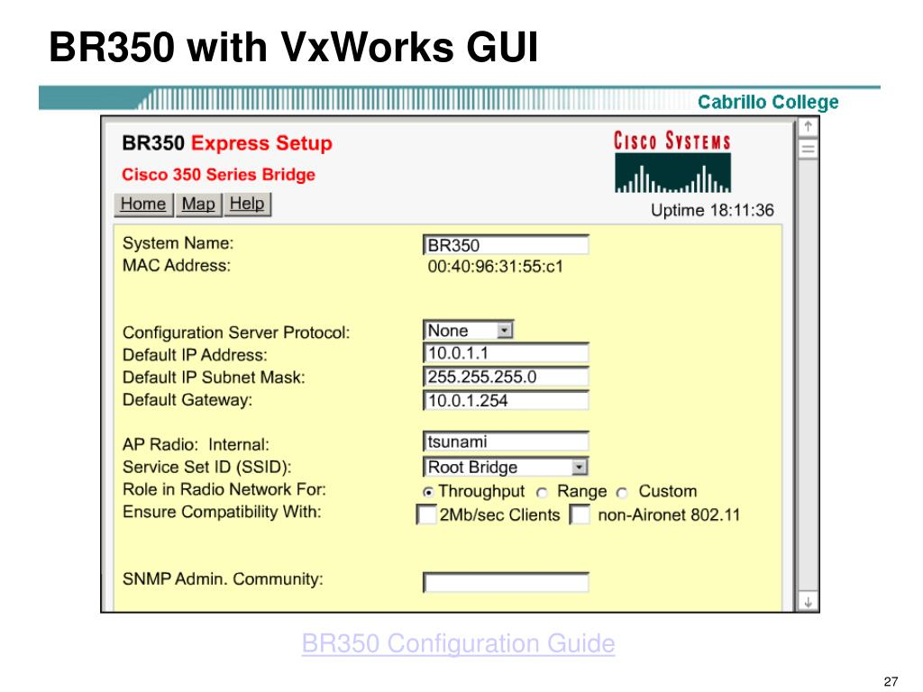 BR350 with VxWorks GUI