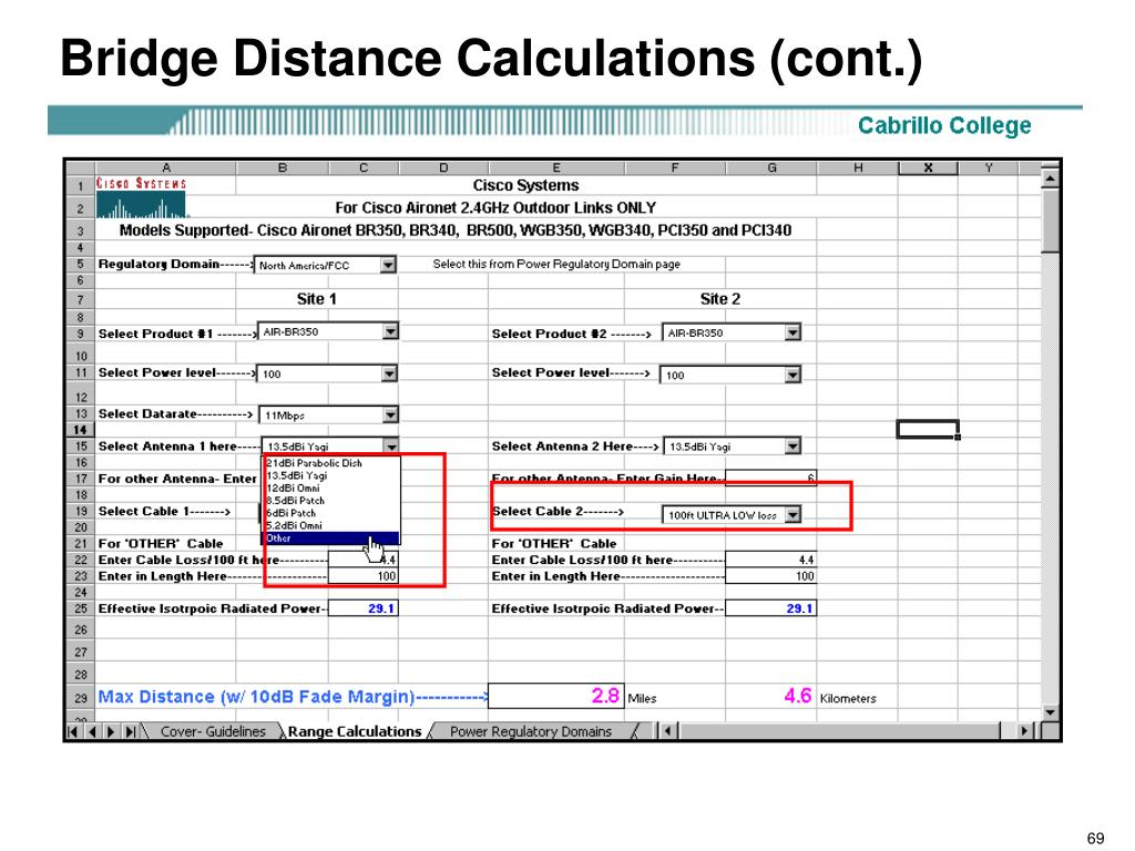 Bridge Distance Calculations (cont.)