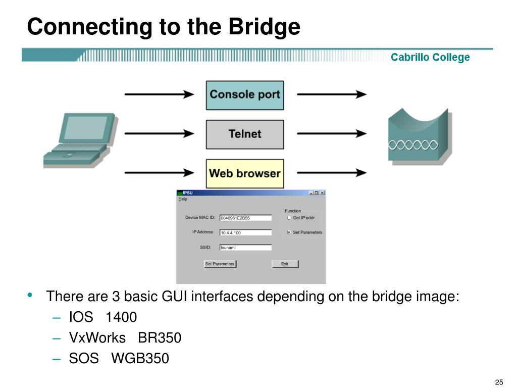 Connecting to the Bridge