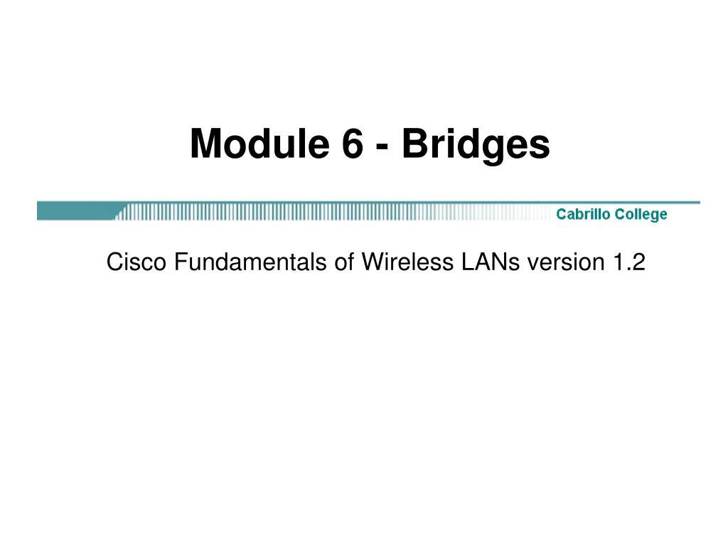 Module 6 - Bridges