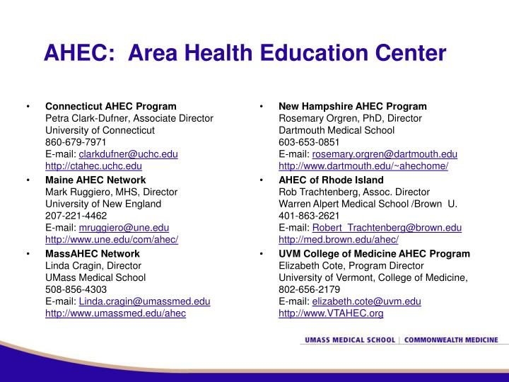 Ahec area health education center