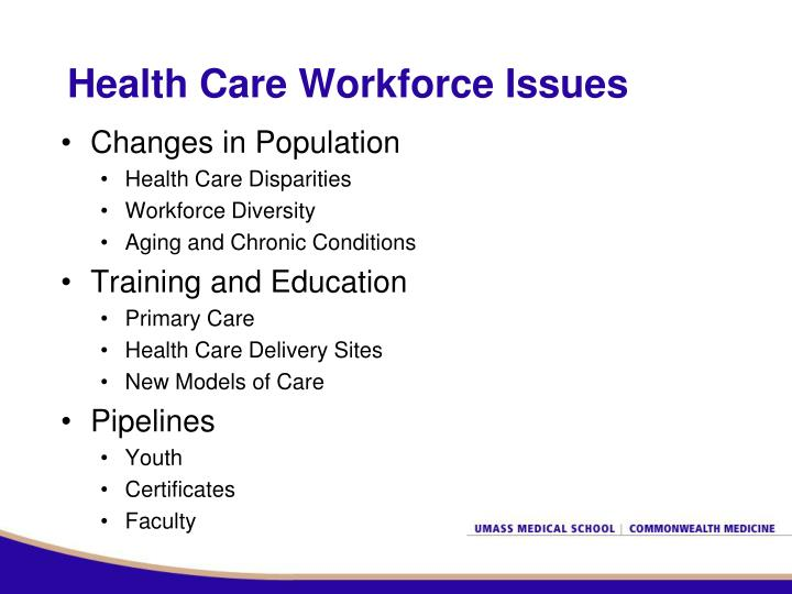 Health care workforce issues