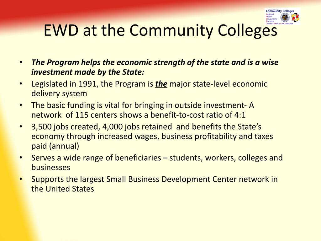 EWD at the Community Colleges