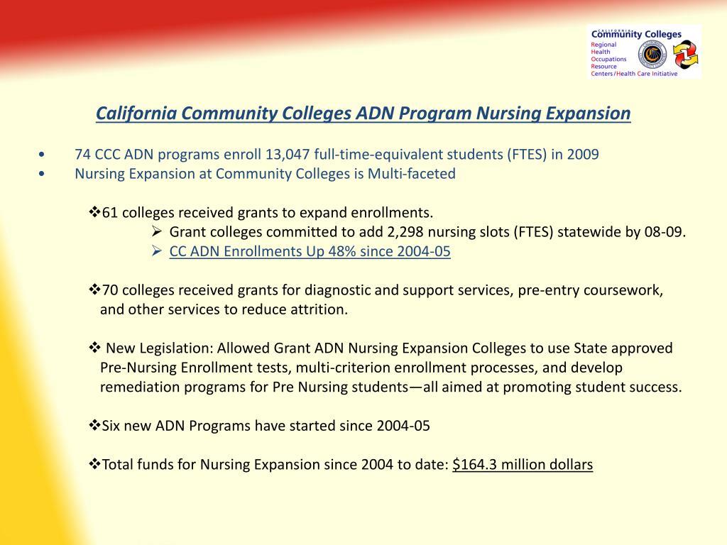 California Community Colleges ADN Program Nursing Expansion