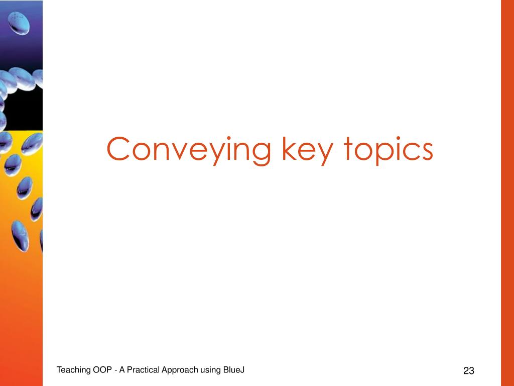 Conveying key topics