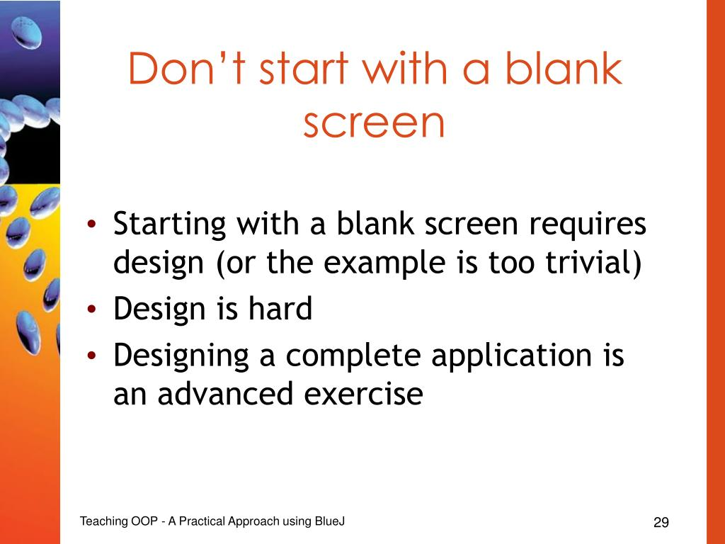 Don't start with a blank screen