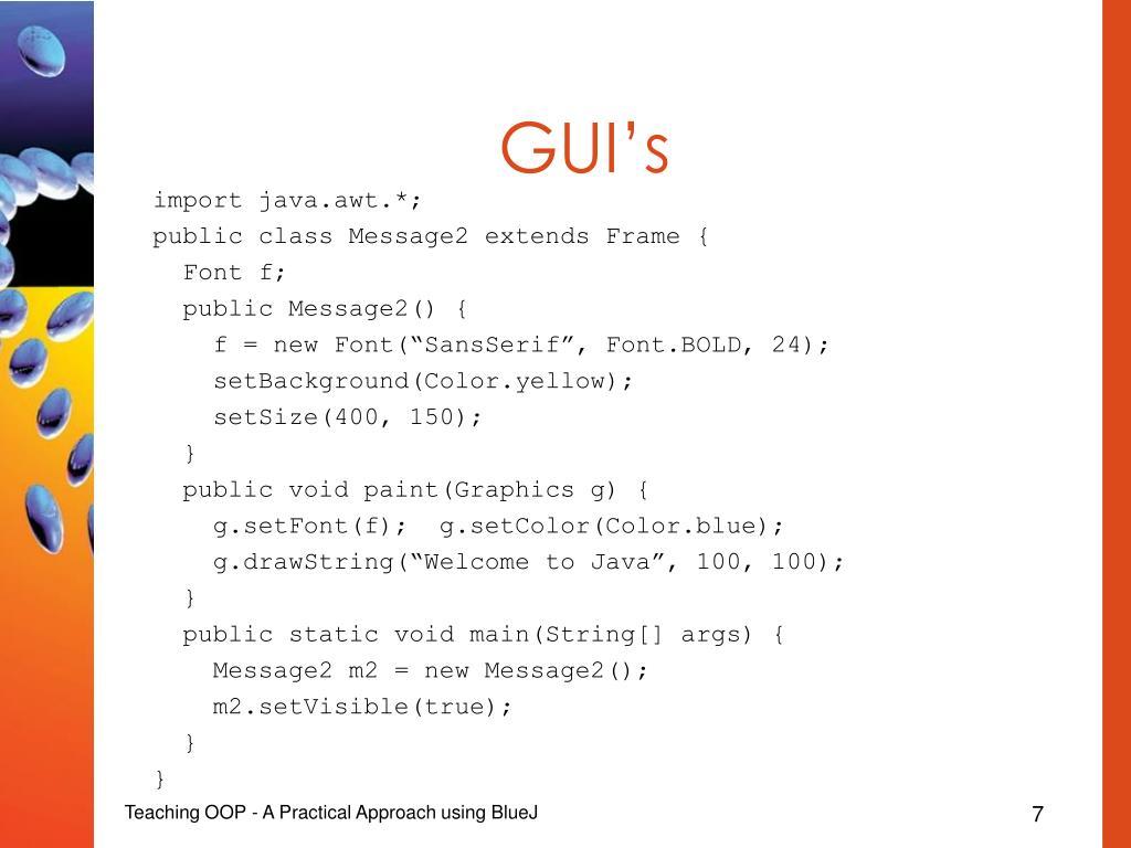 GUI's