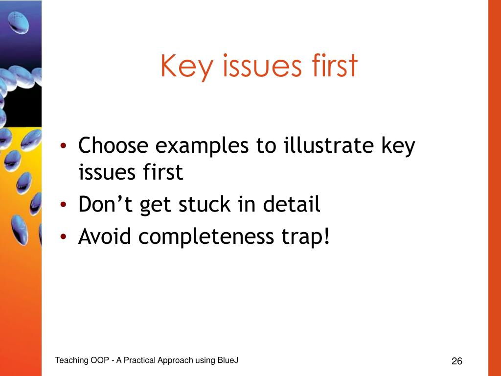 Key issues first