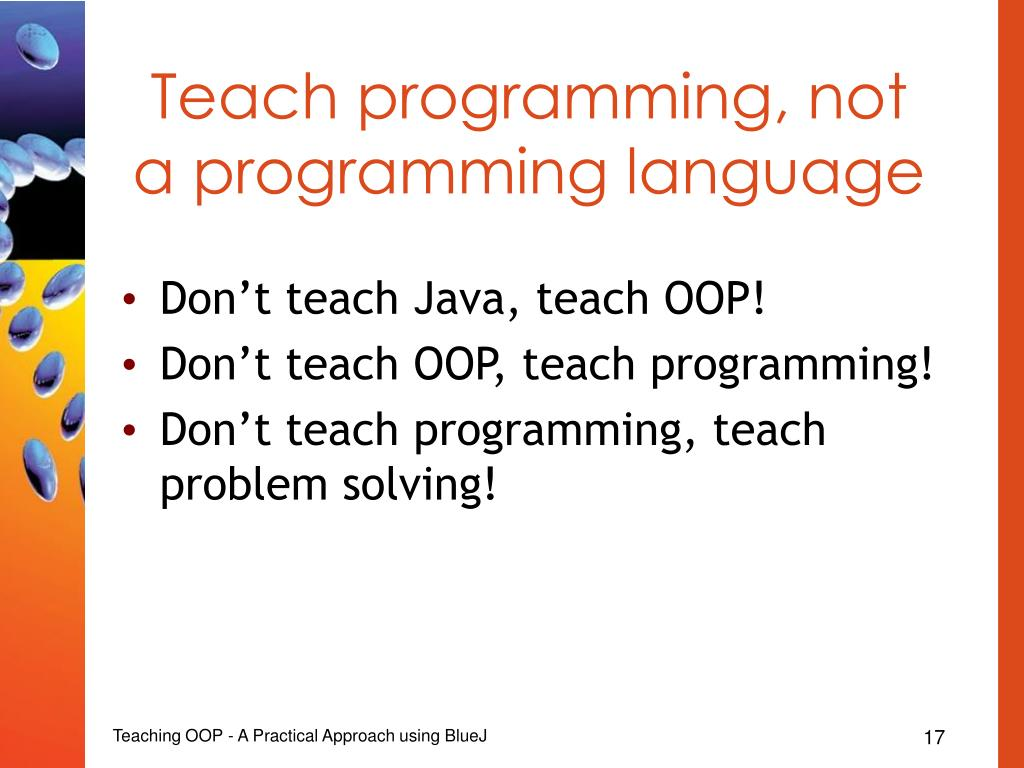 Teach programming, not a programming language