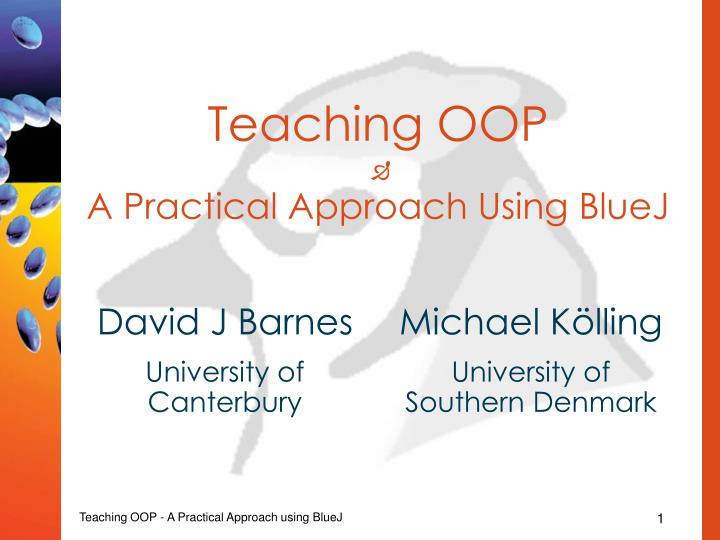 Teaching oop a practical approach using bluej l.jpg
