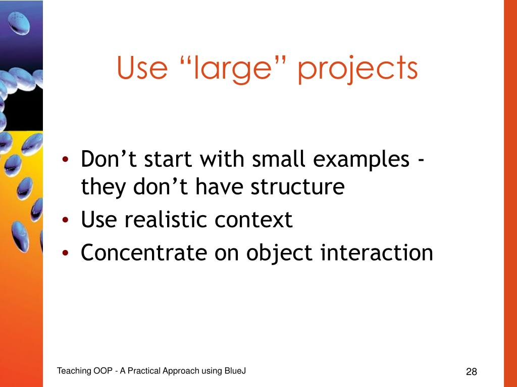 "Use ""large"" projects"