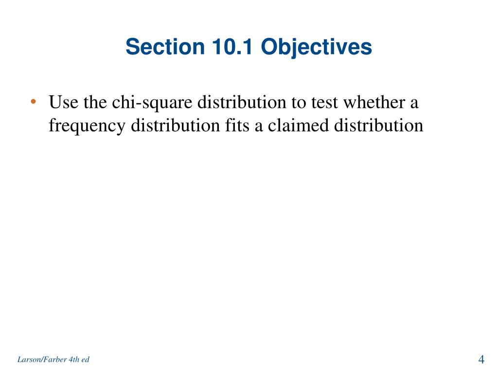 Section 10.1 Objectives