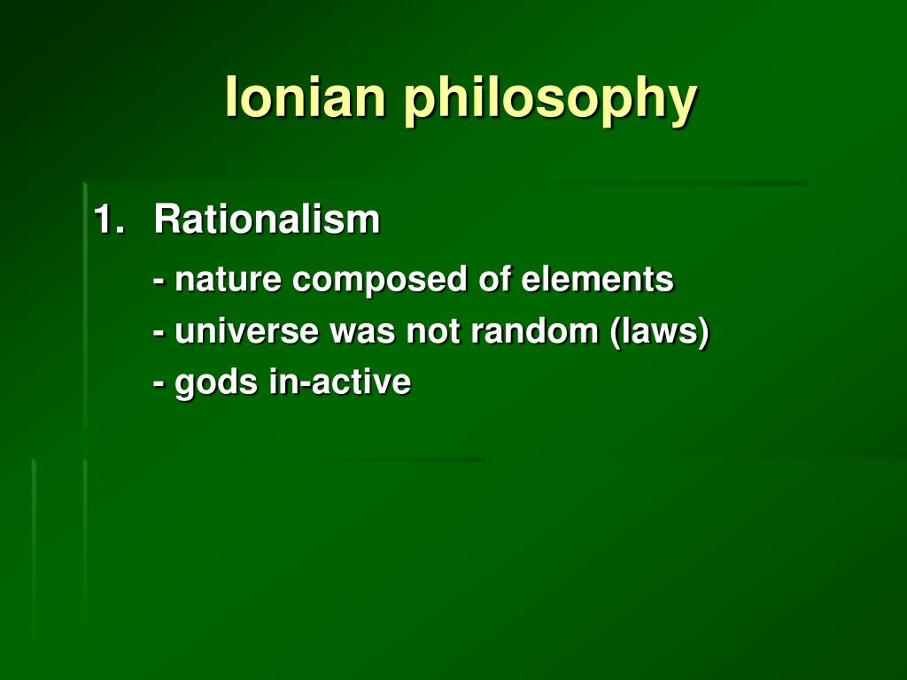 Ionian philosophy