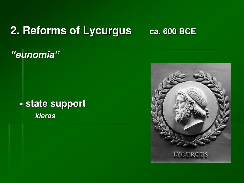 2. Reforms of Lycurgus