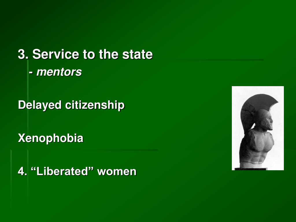 3. Service to the state