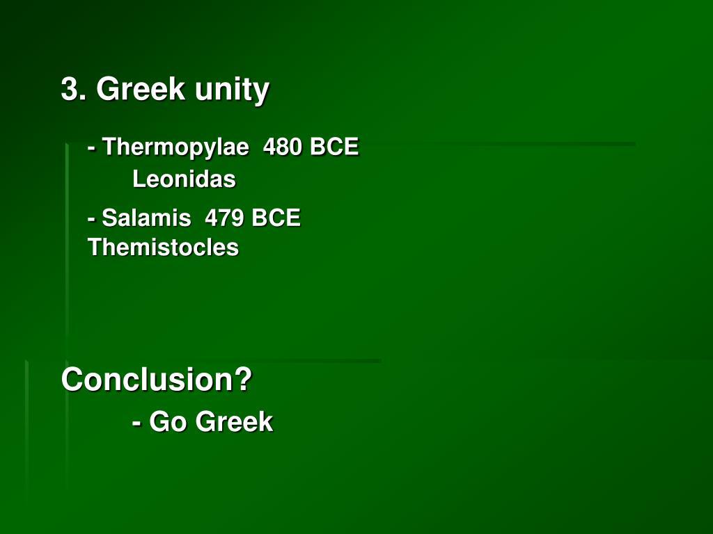 3. Greek unity