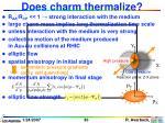 does charm thermalize