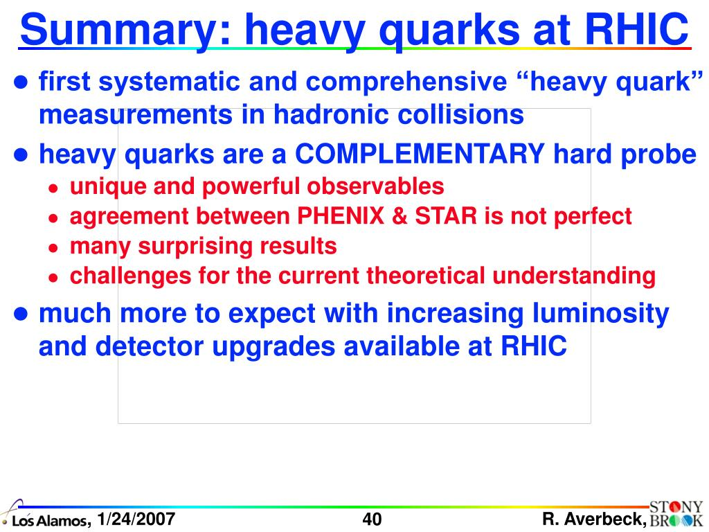 Summary: heavy quarks at RHIC