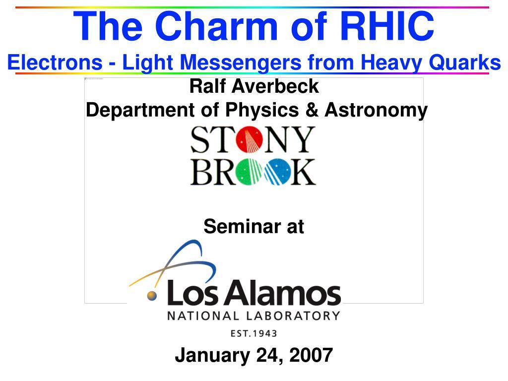 The Charm of RHIC