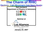 the charm of rhic electrons light messengers from heavy quarks