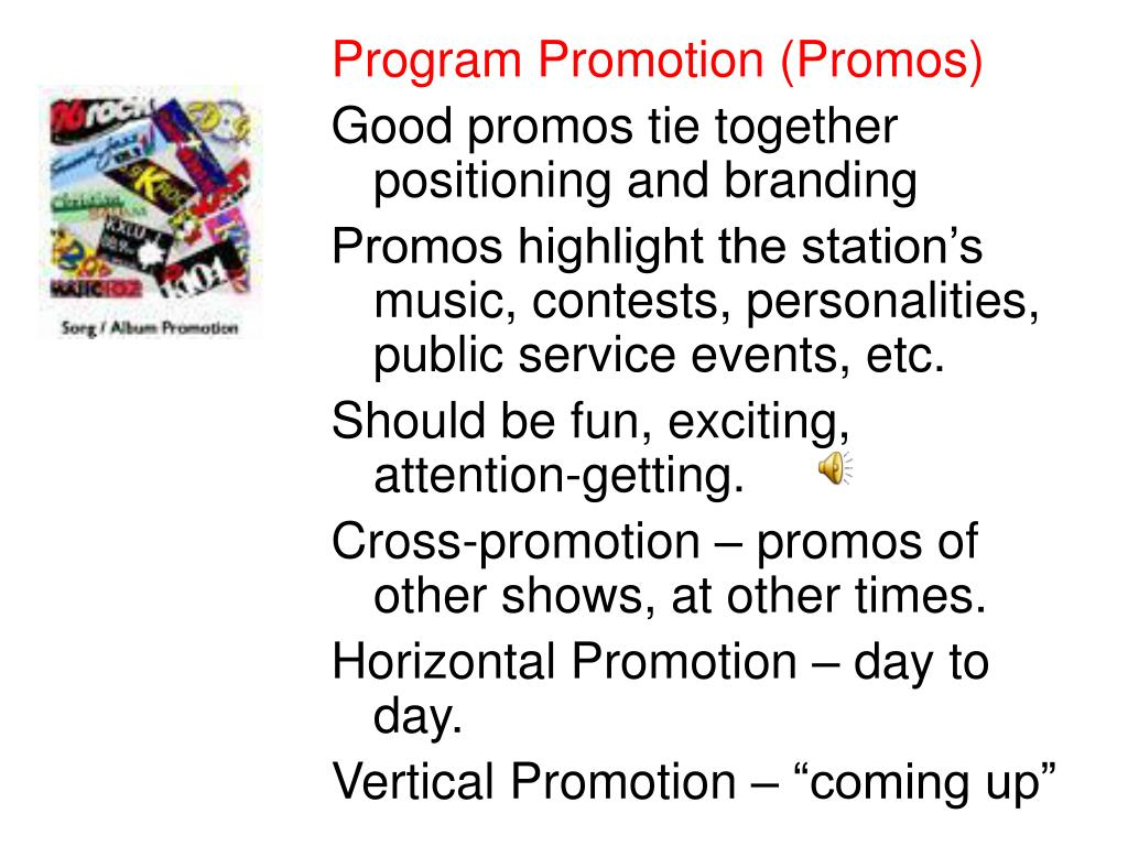 Program Promotion (Promos)