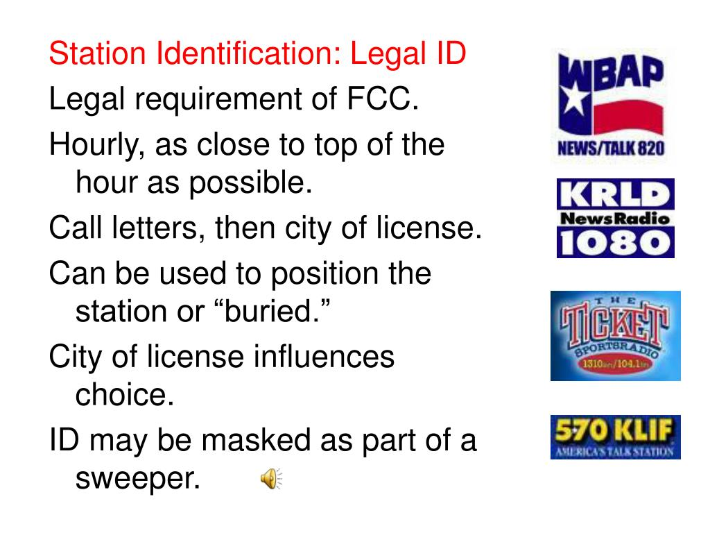 Station Identification: Legal ID