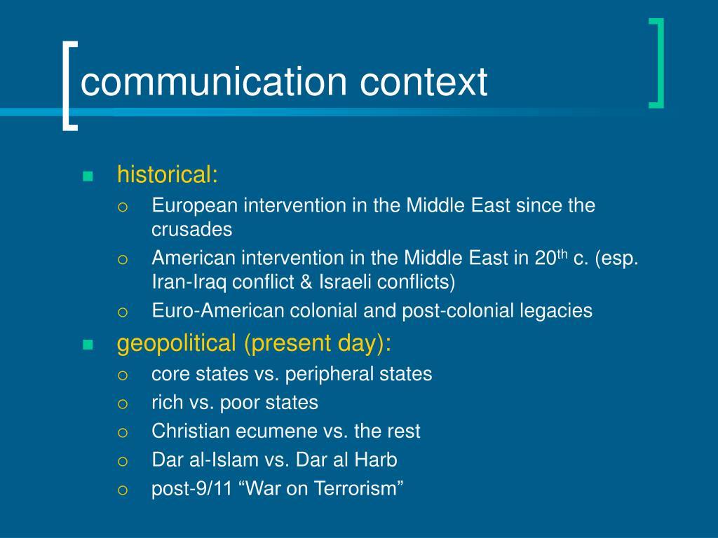 communication context